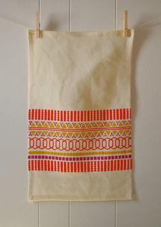 fiesta - tea towel - tomato