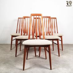 New at 19 West Furniture: six Eva chairs from the 1960's designed by Niels Koefoed. Make them yours here: http://ift.tt/2p2KiJC #19west #vintage #design #designclassic #mcm #20thcentury #midcentury #1950's #1960's #teak #danishdesign