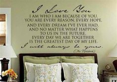 Nicholas Sparks wedding vows over bed