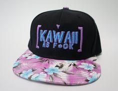 Kawaii as F*ck Purple/Blue Floral Snapback