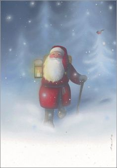 Julemand finder rundt i rimtåge! Father Christmas, Christmas Art, Christmas Photos, Vintage Christmas, Reindeer Christmas, Winter Holidays, Christmas Holidays, Xmas, Troll
