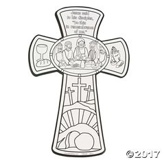 Last Supper Cross Coloring Page Sunday School Projects, Sunday School Activities, Bible Activities, Church Activities, Easter Activities, Cross Coloring Page, Easter Coloring Pages, Bible Coloring Pages, Coloring Rocks