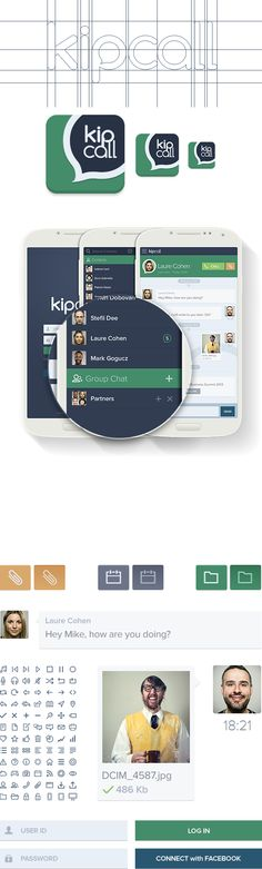 KipCall Business Chat by Sencer Bugrahan, via Behance