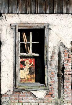 Scratchbuilt by Marcel Ackle, 1/22,5 scale - old windows