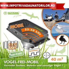 Aparat portabil anti porumbei,pescarusi,ciori Birds Free Mobile