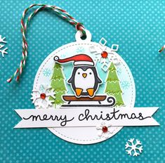 Happy Saturday! Today I'm sharing some Christmas tags that I created using the current Lawnscaping Challenge  as my inspiration.       ...