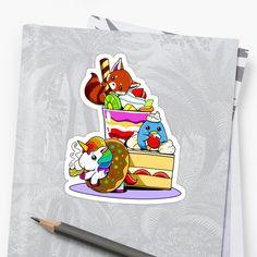 See More Designs Here! http://rdbl.co/2HCquSv #cute #kawaii #cannabis #marijuana #bowl #unicorn #cake #foodie #bong #weed #stickers