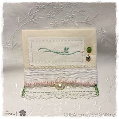 POUCH | Gift, purse for delicate items by CREATEmeDESIGNS on Etsy Fabric Scraps, Little Gifts, Doilies, Gifts For Women, Pouch, Delicate, Embroidery, Purses, Cards