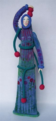 Woman Holding Magical Fruit 2 Art Doll by Jenifer Gould