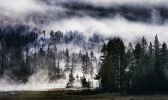 I would guess about 50% of people know this, and I should not take it for granted that everyone does. But Yellowstone sits on top of a giant caldera, and it's due to go off any time (at least, geologically due!) - Yellowstone, Montana - Photo from #treyratcliff Trey Ratcliff at http://www.StuckInCustoms.com