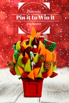 For the month of November we are running a Pinterest Contest. Follow us on Pinterest https://www.pinterest.com/BlossomsHQ and Find one of our arrangement you love and Pin It. You will be entered in our contest to win the arrangement that you Pin all arrangements can be found at www.blossomsfruitarrangements.com  #contest #exclusive #fruitarrangements #freestuff