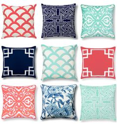 graphic patterned pillows