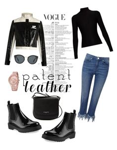 """""""PATENT LEATHER"""" by hijaba on Polyvore featuring Lancaster, Prada, Acne Studios, Miss Selfridge and Courrèges"""