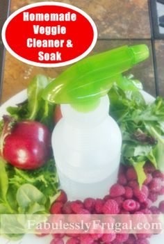 This Homemade Vegetable Wash helps get your produce cleaner, last longer and stay fresh!