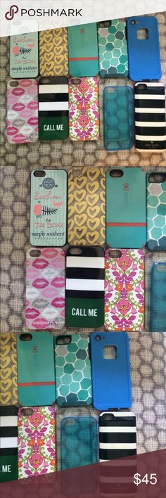 iPhone 5s case bundle 📱💕 11 cases! Such a great deal! All have been used but are in good condition! Smoke free home:) kate spade Accessories Phone Cases