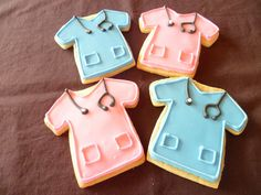 Cute scrub shirt cookies, great party favor