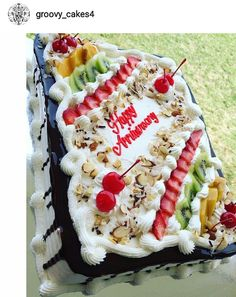 Pretty FruitFilled Tres Leche Birthday Cake cake decorations