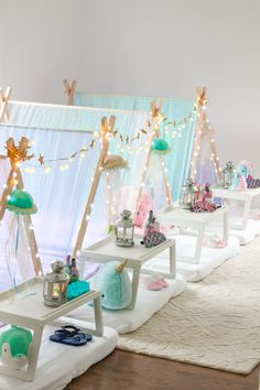 sleepover tents Carolines Under The Sea Sleepover Party - Carolina Charm Birthday Sleepover Ideas, Girl Sleepover, 13th Birthday Parties, Birthday Party For Teens, Slumber Parties, Teen Parties, Teen Birthday, Paris Birthday, Spa Birthday