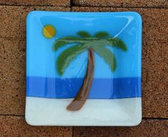 Hey, I found this really awesome Etsy listing at https://www.etsy.com/listing/179361257/slumped-glass-7-square-dish-palm-tree