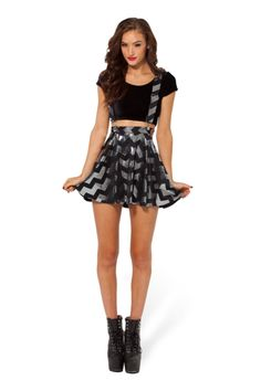 Zig Zag Silver Pinafore Skater - LIMITED