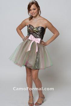 Mossy Oak Short Prom Dresses   Mossy Oak New Breakup Attire Camouflage Prom Wedding Homecoming ...