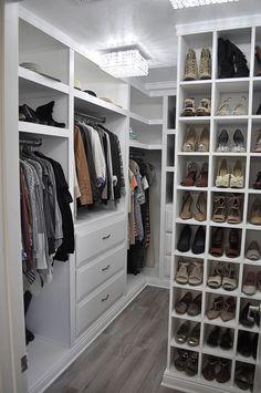 Small DIY walk in closet makeover