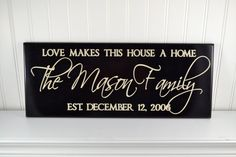 Family Name Sign with Established Date & Quote carved in wood, great classy home decor  by CRSWoodDesigns