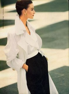 US Vogue | February 1989  Model: Aly Dunne  Photographer: Patrick Demarchelier