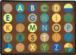 "Alpha Dots Rug - Earthtone - Rectangle - 5'4"" x 7'8"" - JC1801C02 - Joy Carpets"