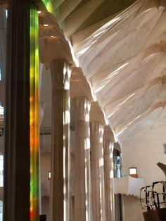 #stained glass #sagradafamilia #skipthelinebarcelona Gaudi, Stained Glass, Barcelona, Architecture, Sagrada Familia, Arquitetura, Barcelona Spain, Stained Glass Panels, Architecture Design