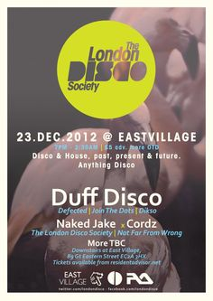 View the The London Disco Society: Xmas Party with Duff Disco flyer