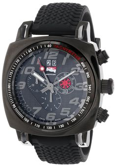 Ritmo Mundo Men's 221 INDYCAR Series Quartz Chrono with Black Ion-Plating Case Watch