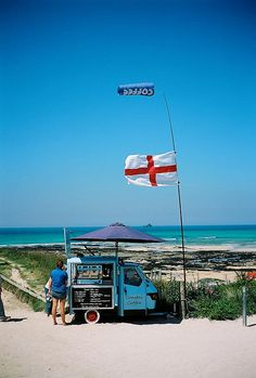 Coastal Coffee. Constantine Bay, Cornwall, England by J.F MPLS, via Flickr