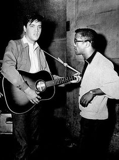 Elvis Presley and Sammy Davis, Jr., circa 1958.