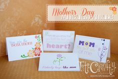 Mother's Day Mini Cards Printable