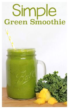 Simple Green Smoothie Recipe!  Yummy and easy!