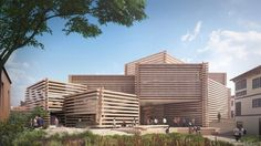 Japanese Studio Kengo Kuma & Associates has unveiled design plans for a modern art museum in Eskishehr, Turkey. The Odunpazari Modern Art museum Kengo Kuma, Turkish Architecture, Architecture Design, Timber Architecture, Museum Of Modern Art, Art Museum, Timber Logs, Wood Artwork, Wooden Buildings
