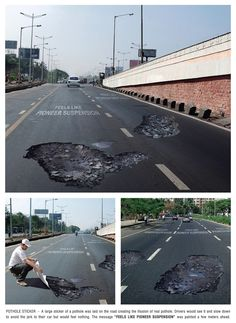 Pioneer Suspensions: Pothole | Ads of the World™