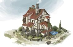 ArtStation - Medieval House, Lee b