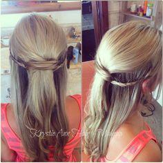 Hair: www.krystieann.com Wedding hair, bridal hair, braids, long hair