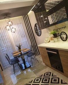 Home Decor Kitchen, Kitchen Living, Kitchen Interior, Home Design Decor, House Design, Turkish Decor, Interior Decorating, Interior Design, Minimal Design