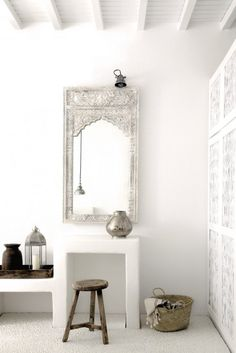 Nice Deco Chambre Orientale Chic that you must know, You?re in good company if you?re looking for Deco Chambre Orientale Chic Moroccan Interiors, Moroccan Decor, Moroccan Style, Moroccan Mirror, White Interiors, Modern Moroccan, Design Interiors, Moroccan Bathroom, Moroccan Room