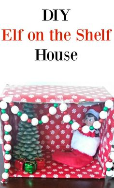 DIY Elf on the Shelf House is a cute craft to make with the kids. AD #MyReason #AtHomeStores
