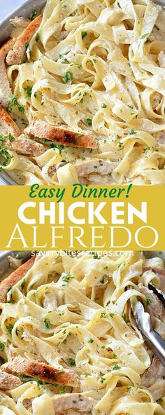 The Easy Chicken Alfredo Homemade Chicken Alfredo Sauce, Homemade Pasta, Dinner Recipes Easy Quick, Easy Meals, Recipes Dinner, Dinner Ideas, Breakfast Recipes, Kfc, Best Alfredo Recipe