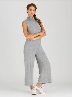 Turtleneck Jumpsuit Grey