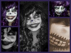 Twisted the Clown Costume (Evil Clown Make Up)