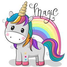 Cartoon Unicorn isolated on a white background. Cute Cartoon Unicorn and a rainbow isolated on a white background vector illustration Unicorn Painting, Unicorn Drawing, Cartoon Unicorn, Unicorn Art, Magical Unicorn, Cute Unicorn, Rainbow Unicorn, Cartoon Mignon, Unicorn Pictures