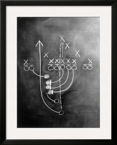 Football Play on Chalkboard or basketball, how cute for sports theme bedroom