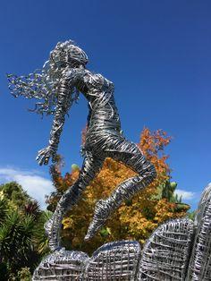 "Michelle Simnett wire sculpture ""Hope Honesty Passion Love """