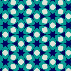 Van Ghent Blue fabric by stoflab on Spoonflower - basically a coloured variation of the islamic pattern posted earlier! So many variations are possible!!